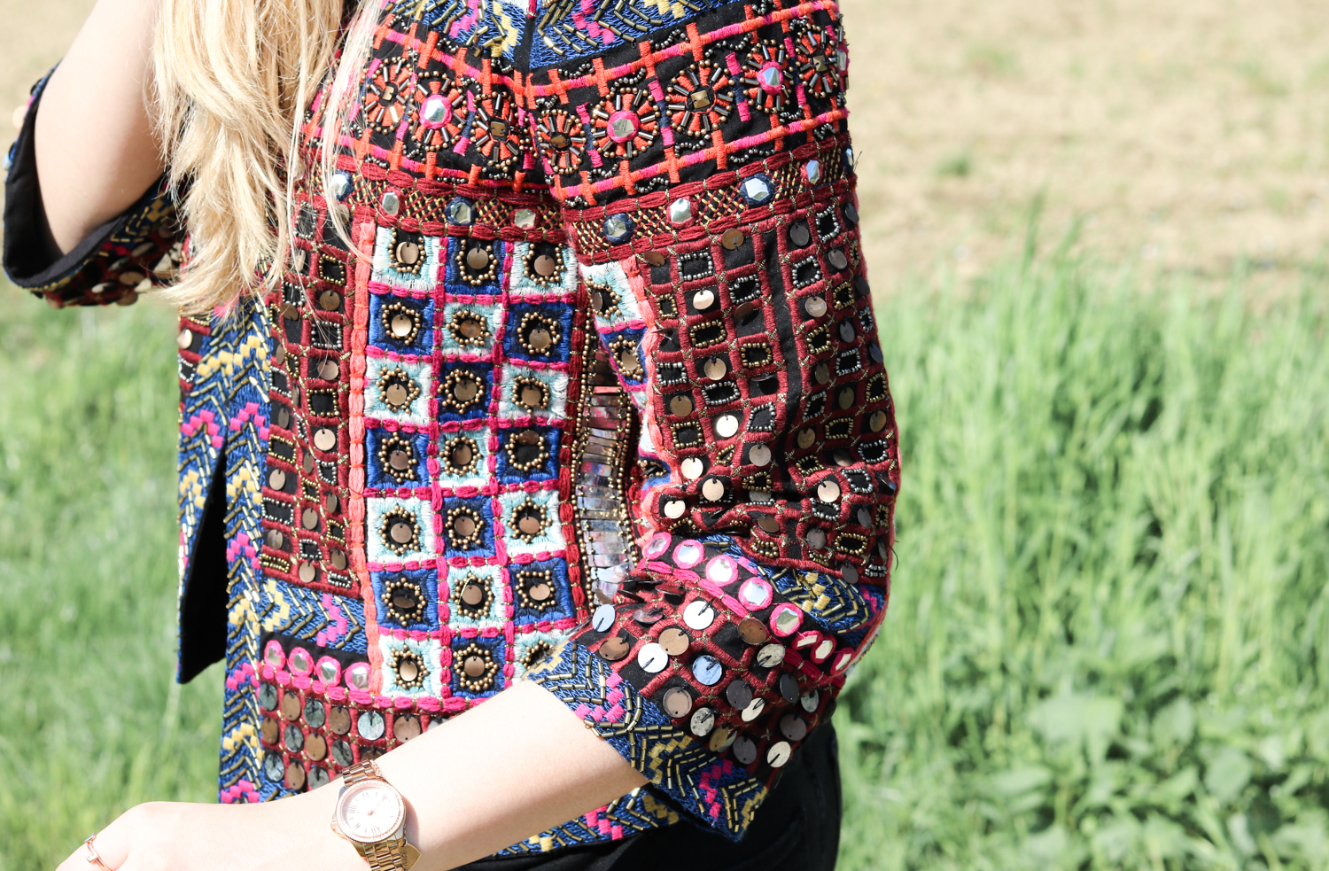 Bits and Bobs by Eva, Blog, Austrian Blog, Österreichische Blog, lovedailydose, your daily treat, fashion, beauty, food, interior, fitness, new, bitsandbobsbyeva.com, travel, spring, April, Frühling, Folklore Jacke, Hippie, Festival Look, Outfit of the Day, Folklore Outfit