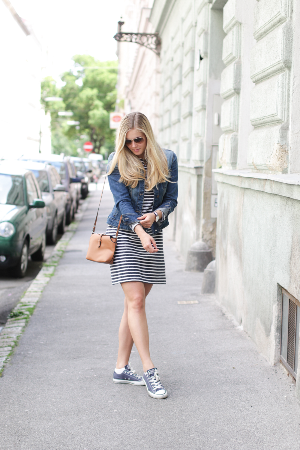 Outfit: Striped Dress