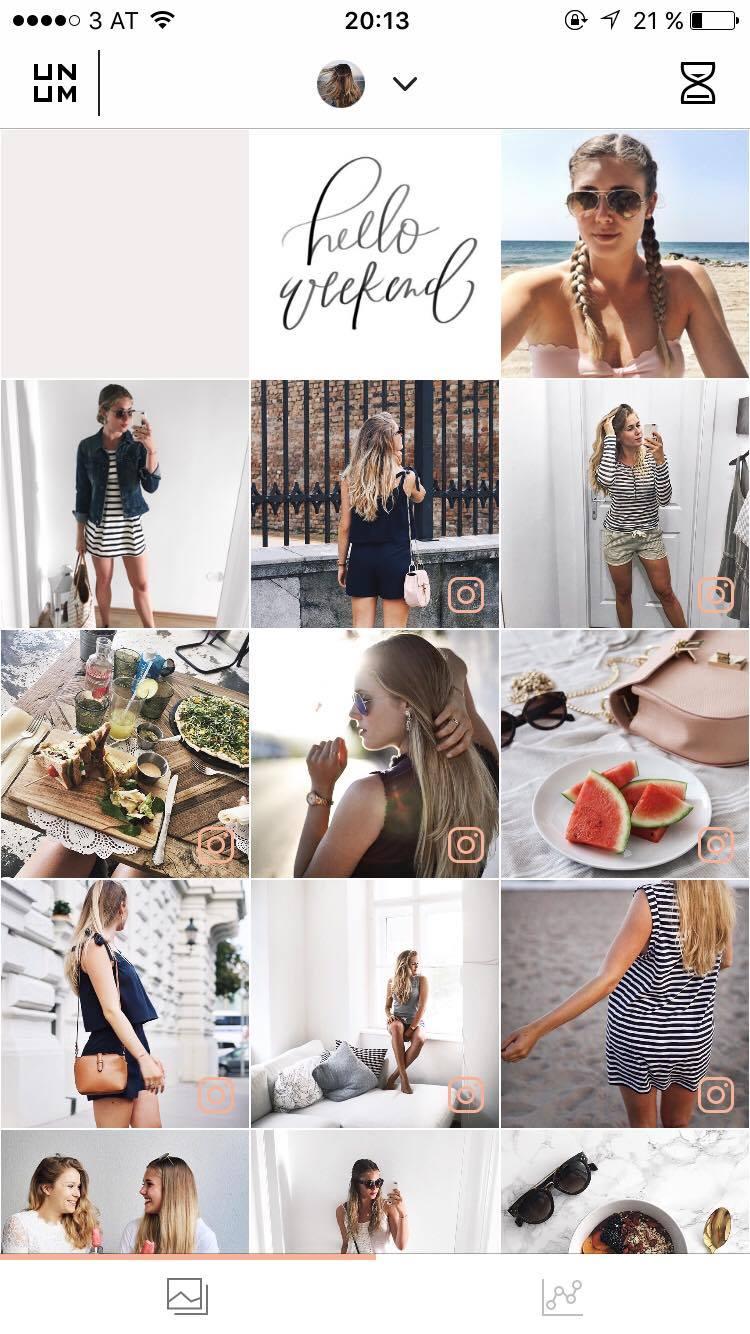 wie bearbeite ich meine Fotos auf Instagram, UNUM