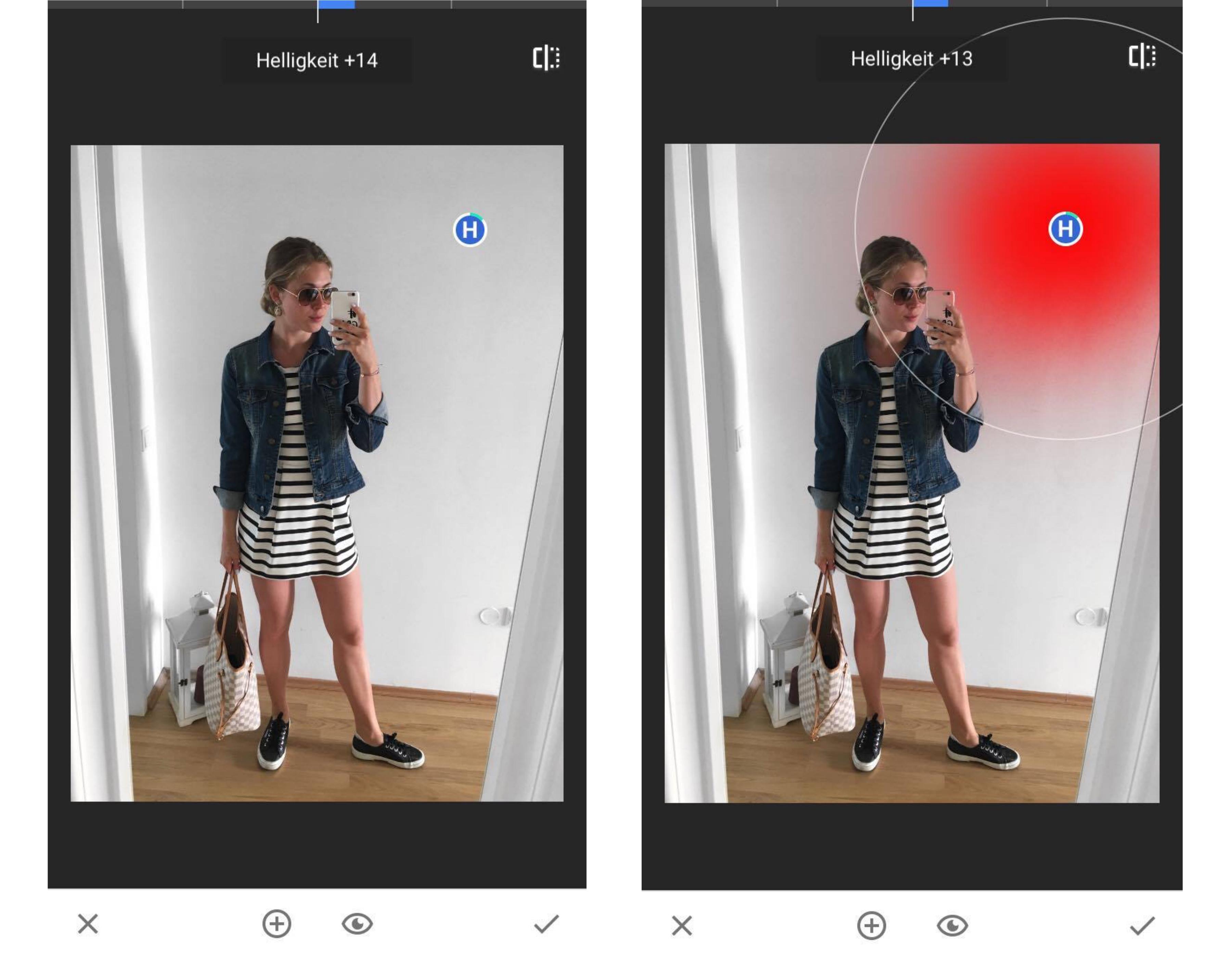 wie bearbeite ich meine Fotos auf Instagram, Snapseed