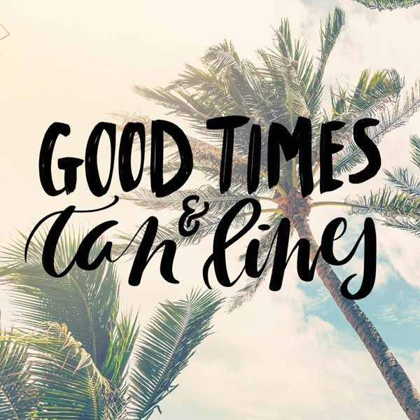 Summer Playlist 2017 good times tan lines