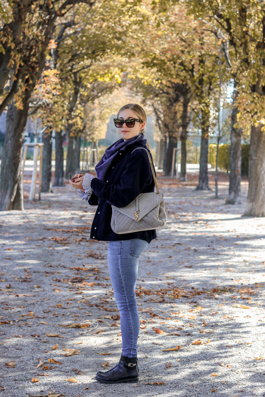 Outfit: Velvet Bomber Jacket auf dem österreichischen Mode Blog Bits and Bobs by Eva