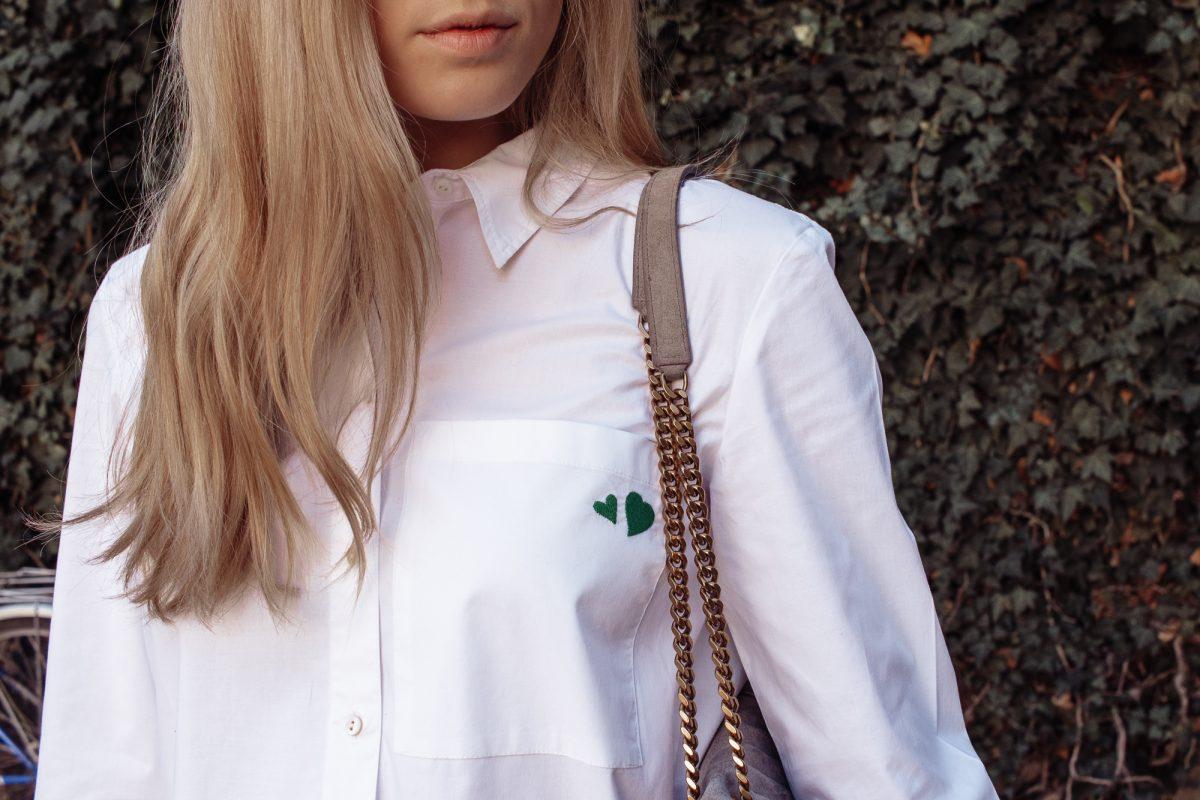 Outfit: Hemdbluse Hearts auf dem österreichischen Lifestyle Blog Bits and Bobs by Eva. Mehr Fashion und Esprit auf www.bitsandbobsbyeva.com