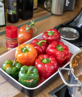 Rezept: Gefüllte Paprika auf dem österreichischischen Lifestyle Blog Bits and Bobs by Eva. Mehr Food auf www.bitsandbobsbyeva.com